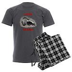 Little Stinker (Baby Skunk) Men's Charcoal Pajamas