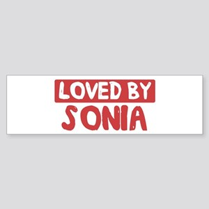 Loved by Sonia Bumper Sticker