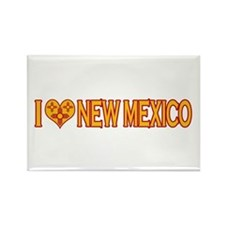 I Love New Mexico Rectangle Magnet