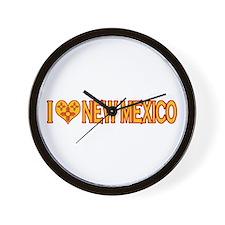 I Love New Mexico Wall Clock