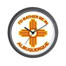 I'd Rather Be In Albuquerque Wall Clock