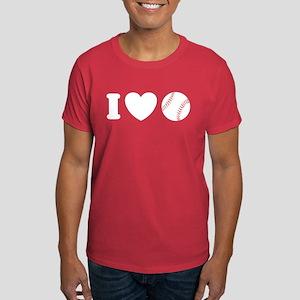 I Love Baseball Dark T-Shirt