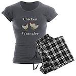 Chicken Wrangler Women's Charcoal Pajamas