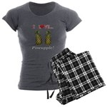 I Love Pineapple Women's Charcoal Pajamas