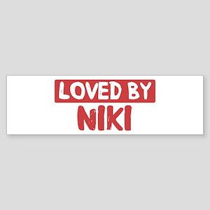 Loved by Niki Bumper Sticker