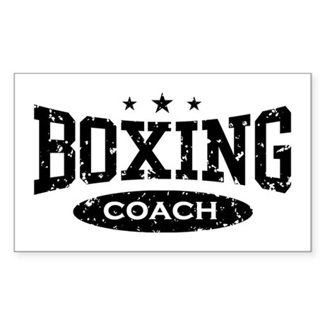 Boxing Coach Rectangle Sticker