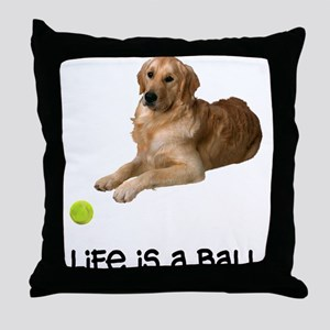 Golden Retriever Life Throw Pillow