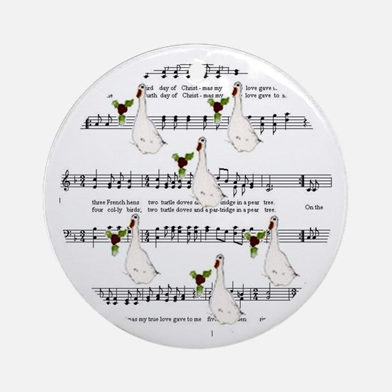 Sixth Day of Christmas Ornament (Round)