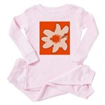 Flower Baby Pajamas (orange Baby Pajamas)