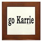 go Karrie Framed Tile