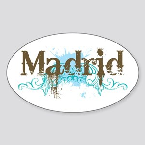 Madrid Oval Sticker