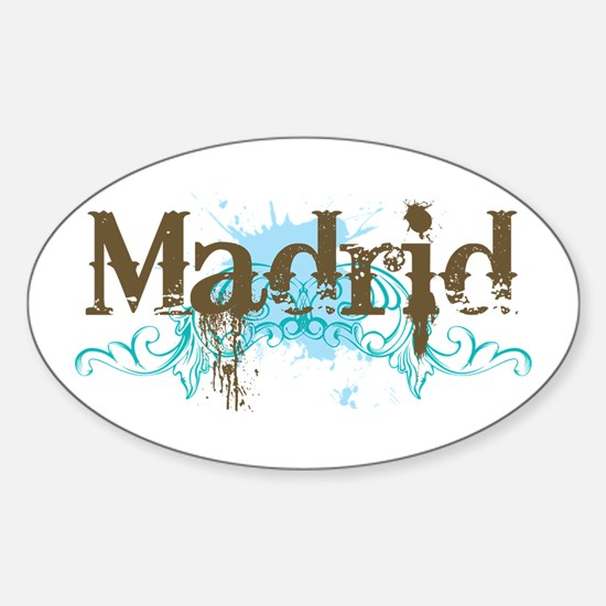 Madrid Oval Decal