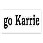go Karrie Rectangle Sticker