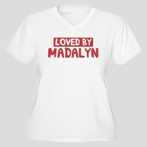 Loved by Madalyn Women's Plus Size V-Neck T-Shirt