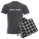 gluten sucks Men's Charcoal Pajamas