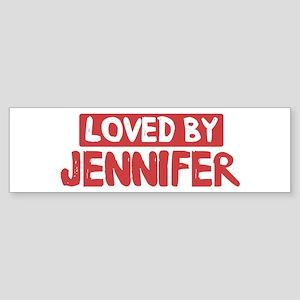 Loved by Jennifer Bumper Sticker