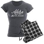 Aloha Bitches Funny Women's Charcoal Pajamas
