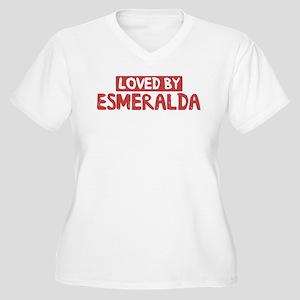 Loved by Esmeralda Women's Plus Size V-Neck T-Shir