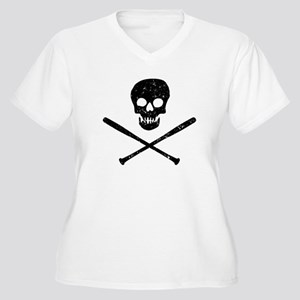 Skull & Bats Women's Plus Size V-Neck T-Shirt