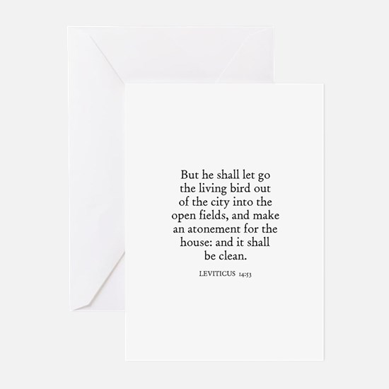 LEVITICUS  14:53 Greeting Cards (Pk of 10)