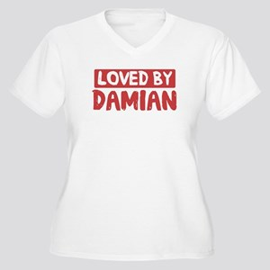 Loved by Damian Women's Plus Size V-Neck T-Shirt