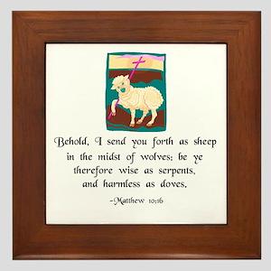 """""""Sheep Among Wolves"""" Framed Tile"""