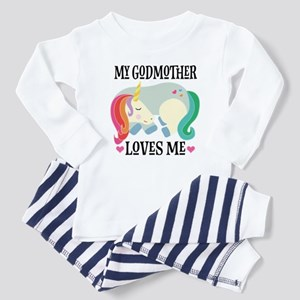 Godmother Loves Me Unicorn Baby Pajamas