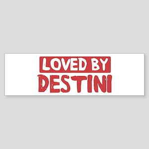 Loved by Destini Bumper Sticker