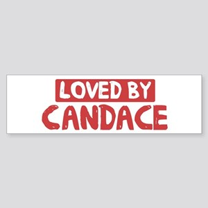Loved by Candace Bumper Sticker