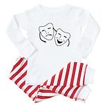 Comedy & Tragedy Mask Baby Pajamas