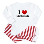 I Love Lake Minnetonka Baby Pajamas