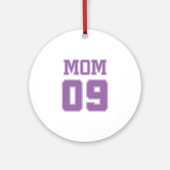 Purple Mom 09 Ornament (Round)