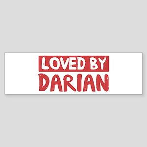 Loved by Darian Bumper Sticker