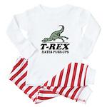 T-REX Hates Pushups Baby Pajamas