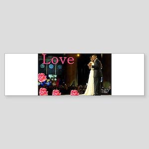 Barack & Michelle Love Bumper Sticker