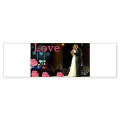 Barack & Michelle Love Bumper Sticker (10 pk)