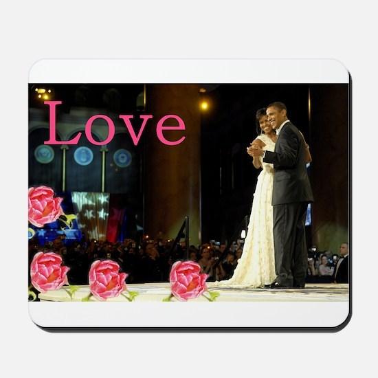 Barack & Michelle Love Mousepad