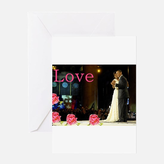 Barack & Michelle Love Greeting Card