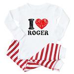 I (Heart) Roger Baby Pajamas