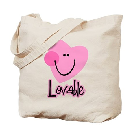 Lovable Heart Tote Bag