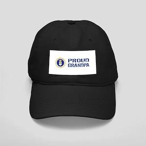 USAF: Proud Grandpa Black Cap with Patch