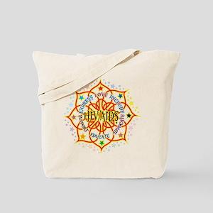 HIV/AIDS Lotus Tote Bag