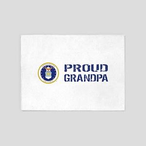 USAF: Proud Grandpa 5'x7'Area Rug