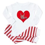 Mom and Baby ILY in Heart Baby Pajamas