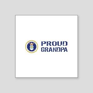 "USAF: Proud Grandpa Square Sticker 3"" x 3"""