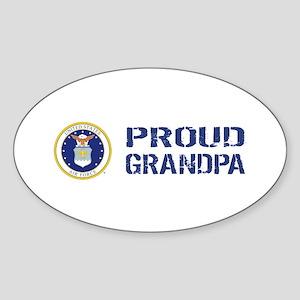 USAF: Proud Grandpa Sticker (Oval)