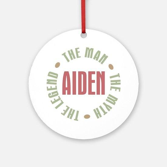 Aiden Man Myth Legend Ornament (Round)