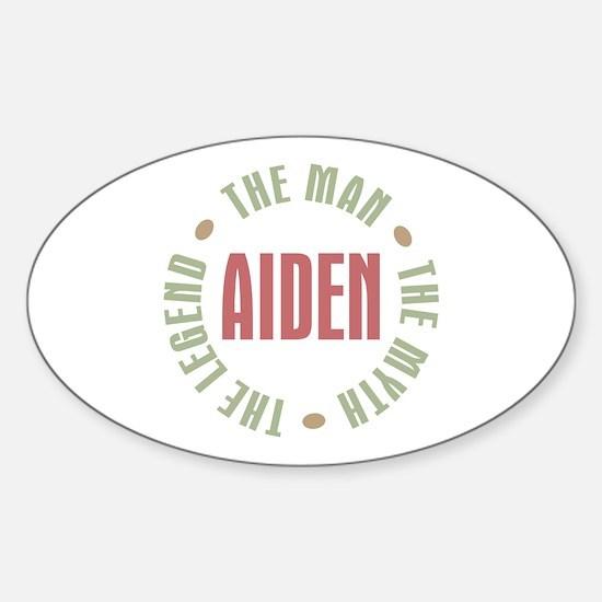 Aiden Man Myth Legend Oval Decal