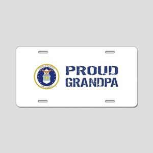 USAF: Proud Grandpa Aluminum License Plate