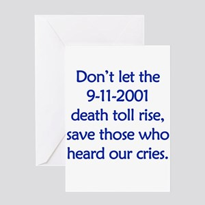 Save our heroes Greeting Card